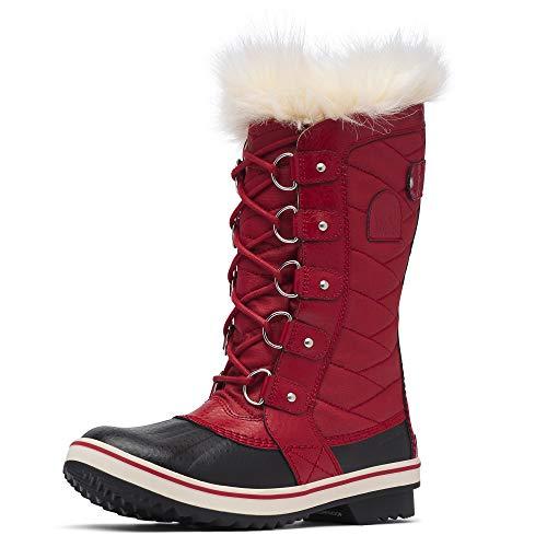 Sorel - Women's Tofino II Waterproof Insulated Winter Boot with Faux Fur Cuff, Red Dahlia, 8 M US