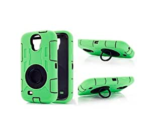 Noarks « Shockproof Armor Case Defender Armor Case Hard Plastic Shell Silicone Skin Cover Stand Cases for Samsung S4 I9500 (Shockproof Armor Green)