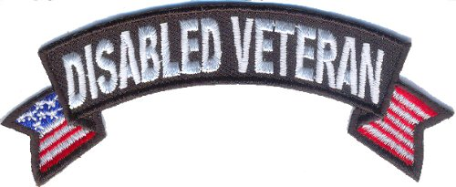 Disabled-Veteran-Patch-With-US-Flags-By-Ivamis-Trading-4x15-inch