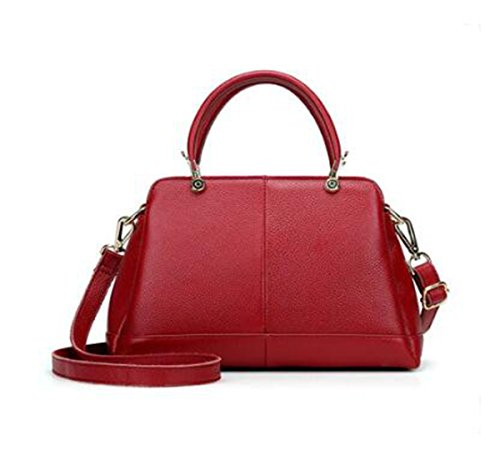 bag 7 Bags backpack Red 4 Shoulder inch Genuine 11 Ms Crossbody Leather LXopr 8 7 XwYtPqR