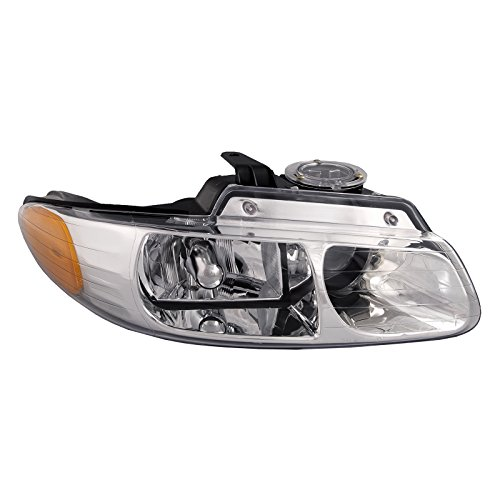 HEADLIGHTSDEPOT Compatible with Chrysler Town & Country W/Quad Headlight Headlamp Passenger Side New Country Headlight Quad Headlamp