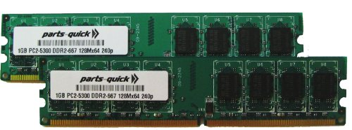 2GB Kit 2 X 1GB DDR2 Memory for Gateway GT5662 GT5670 GT5672E GT5674 GT5676 GT5678 GT5680E GT5685E GT5692 GT5694 Desktop PC2-5300 240 pin 667MHz DIMM NON-ECC -