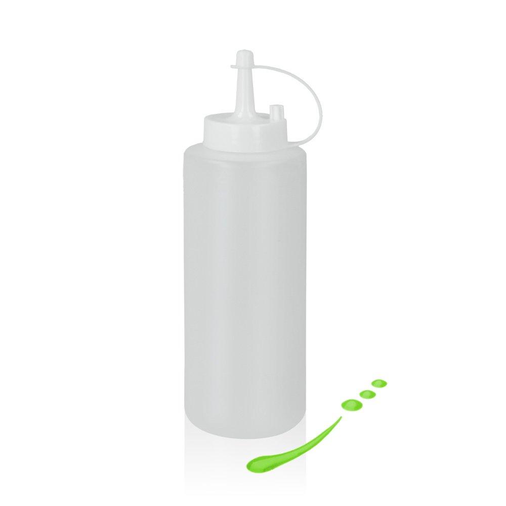 Metaltex 252960 Squeezy Saucens Dispenser 375 ml, plastic, White
