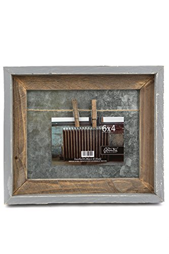 Green Tree Gallery Galvanized Tin Clip Frame with Jute String, for 6 x 4 inch Photo