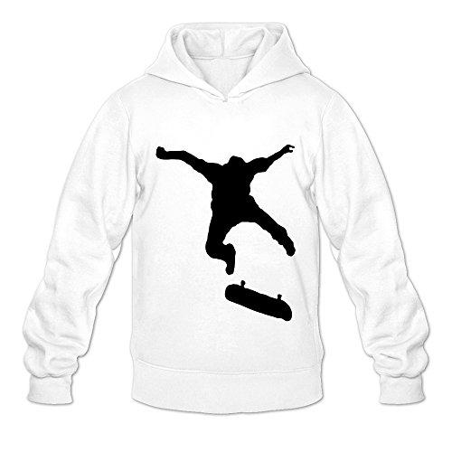 Price comparison product image Men's Skate Jump 1 Farbig 3D Hoodies Sweatshirt Size XL US White