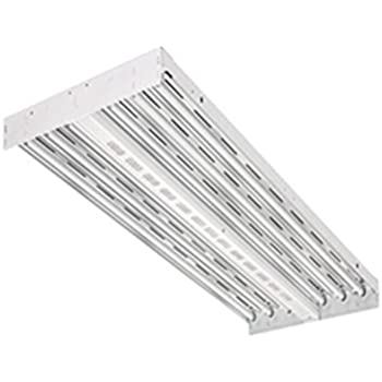 Lithonia Lighting IBZT5 6 6-Light T5HO Contractor Select Fluorescent High Bay, White