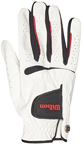 WILSON Herren Golf Handschuh Feel Plus MRH, Weiß, L, WGJA00065L