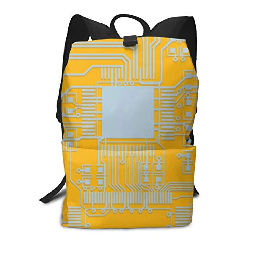 Multi Function Travel Storage Backpack,Adjustable Backpack Straps,Zip Closure,Durable Computer Chip Cpu Core Heart Daypack