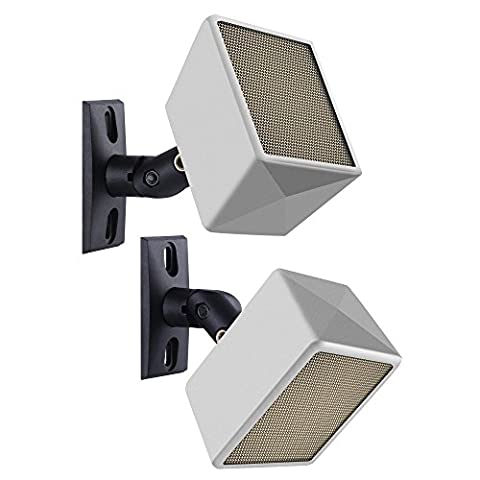 Speaker Mount, Side Clamping Speaker, Mounting Bracket with Swivel and Tilt for Large Surround Sound Speakers – 1 Pair – Suitable for Walls and Ceilings – Holds up to 8lbs by (Audio Speaker Mounts)