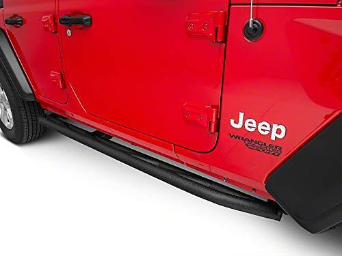 Barricade Rock Sliders in Textured Black for Jeep Wrangler JL 4 Door 2018-2019