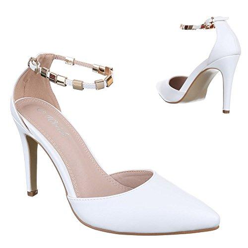 Donna Design Ital con plateau bianco Bianco Scarpe dU7I7wxqP