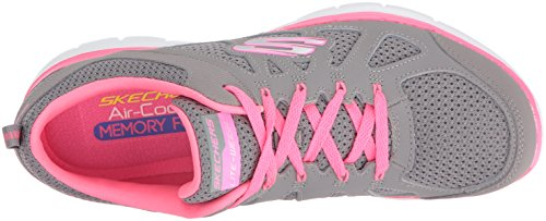 Skechers Trainers Weight 2 Appeal fitness Gray black Pink Simplistic Lite Women's Flex 0 zYrRzFq