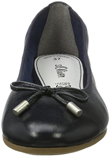 s.Oliver 22112, Bailarinas para Mujer Azul (NAVY 805)