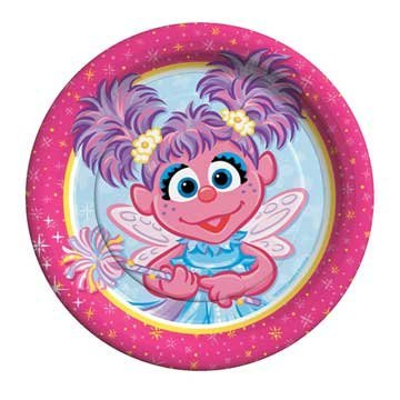 Used, Sesame Street Abby Cadabby 7 Dessert Plates - 8 Count for sale  Delivered anywhere in USA