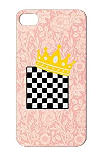 Chess King TPU For Iphone 4 Silver Cool Quote Quotations Funny Music Lol Best Swag Funny Awesome New Amazing Case Cover
