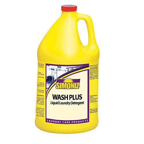 Simoniz W4200004 Wash Plus Economical Liquid Laundry Detergent, 1 gal Bottles per Case (Pack of 4) by Simoniz