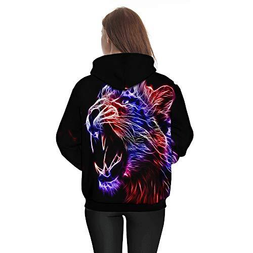3D Hiver Longues Femme Sweatshirt ALIKEEY Manches Casual Manteau Blanche Impression Grande Blouse Hiver Automne Taille Femme Chemise Noir qSPX6p
