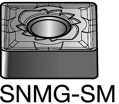 - Sandvik Coromant Carbide Turning Insert, SNMG 543-SM 1115 - SNMG 543-SM 1115, Pack of 10