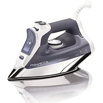 Rowenta DW8080 Pro Master 1700-Watt  Micro Steam Iron Stainless Steel Soleplate with Auto-Off, 400-Hole, Blue