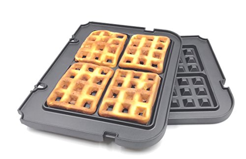 Waffle Plates for Cuisinart Griddler GR-4N and GRID-8N Series (Not for Old Model GR-4 or GRID-8)