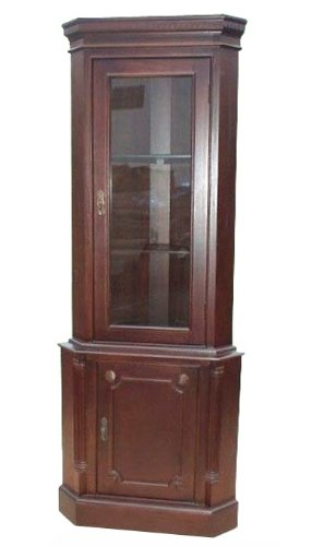 D-ART COLLECTION 1-Door Corner Cabinet Door Corner Curio