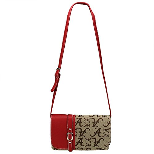 ALABAMA Crimson Tide Signature Line Cross Body Handbag Style 8588
