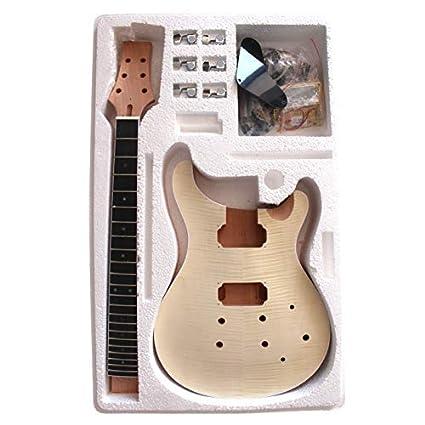 8WMPRFMS Caoba Cuerpo con Flameado Arce Chapa Top Guitarra Eléctrica Kit Construcción