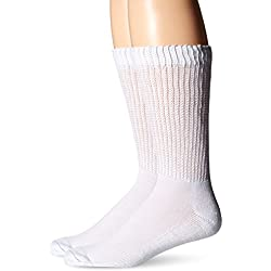 Dr. Scholl's Men's Diabetes and Circulatory 2 Pack Sock,White,X-Large(Shoe Size: 11-15/ Sock Size: 13-15)
