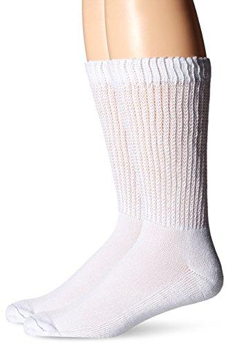 Dr. Scholl's Men's Diabetes and Circulatory Odor Resistant Crew Socks,  White, Shoe: 7-12
