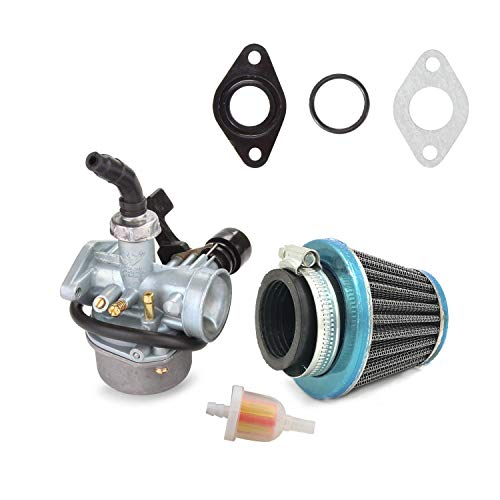 ATV Carburetor PZ19 with Fuel Filter and 35mm Air Filter for 50cc 70cc 80cc 90cc 110cc 125cc ATV Dirt Pit Bike Taotao Honda CRF By LIAMTU (Ssr 110 Carburetor)