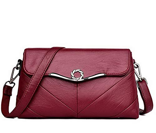 AgooLar Clutch GMDBB181853 Shopping Claret Dacron Women's Blue Weekend Studded Getaways Handbags rEY8Oqrwx