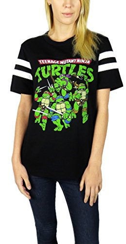 Teenage Mutant Ninja Turtles Womens Varsity Football Tee (Female Ninja Turtles)