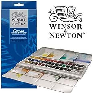 7 x Winsor and Newton Cotman Half Pan Set de acuarelas: Amazon.es ...