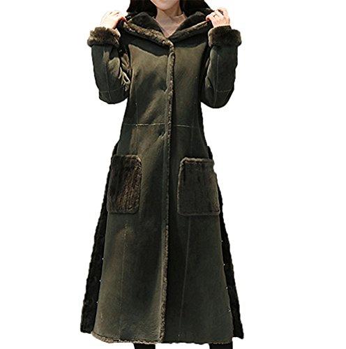 CAIXINGYI冬の新しいウエストカレッジ風ヨーロッパとアメリカの女性のロングウールジャケット