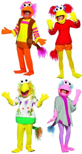 fraggle rock group costume set of 4 adult standard - Fraggle Rock Halloween Costumes