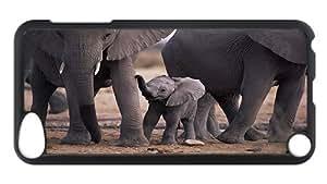 iPod Touch 5 Case, Elephants Customize Case for iPod Touch 5 Polycarbonate Plastics Hardshell Case Black