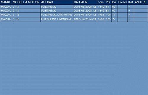 ETS-EXHAUST 3378 Exhaust Rear Silencer fits 3 1.4 1.6 HATCHBACK HATCHBACK, SALOON 84//105hp 2003-2014