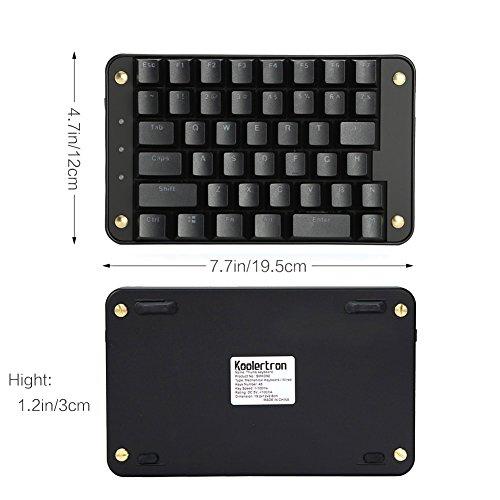 Koolertron Cherry MX Black Programmable Gaming Keypad, Mechanical Gaming  Keyboard with 43 Programmable Keys, Single-Handed Keypad Macro Setting,