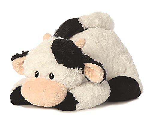 Tushies Plüschtier Kuh, Kuscheltier liegend Plüschkuh ca. 28 cm, im Set mit 7ml Bodybutter