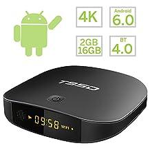 WISEWO Android 6.0 TV Box Smart Mini PC Media Player Set Top Box Quad Core Speed 2GB/16GB Support 2.4G Wifi 3D 4K Ultra HD BT 4.0
