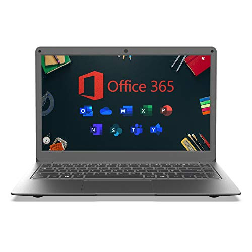 Jumper Laptop met Microsoft Office 365, 13.3-inches FHD Computer, 4GB RAM 64GB eMMC, Dual-band Wifi, Windows 10, USB 3.0…