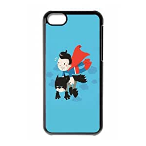 iPhone 5c Cell Phone Case Black Superman Carrying Batman LSO7728878