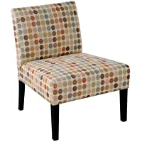 Handy Living 340C-PEG99-083 Nate Armless Chair, Multicolored Retro Egg Design