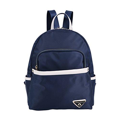 Mummy Bag Multi-funcional de gran capacidad de mochila Simple Madre Pequeña paquete de la madre y el niño paquete ( Color : Azul oscuro ) Azul oscuro