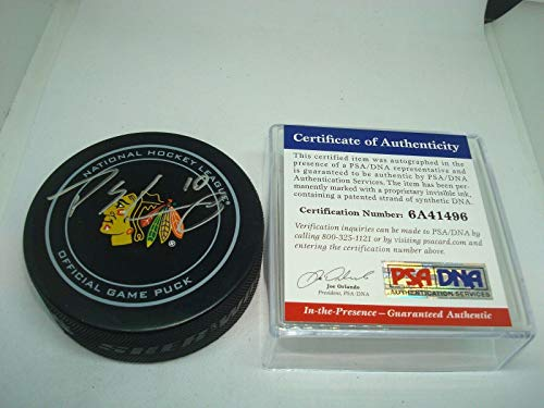 Signed Patrick Sharp Puck - Official COA 1A - PSA/DNA Certified - Autographed NHL Pucks (Patrick Sharp Puck)