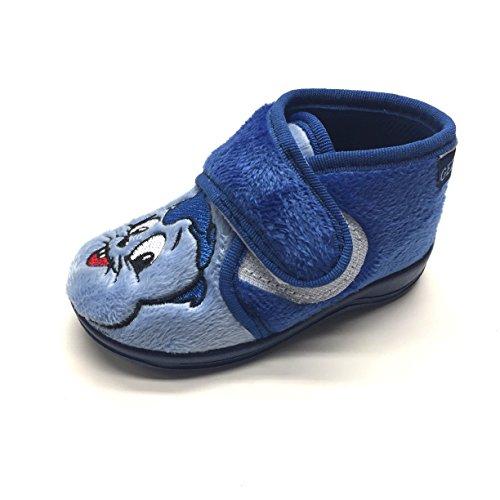 Gezer Garçons Pantoufles Pantoufles bleu De Bleu Bleu wYfwHq