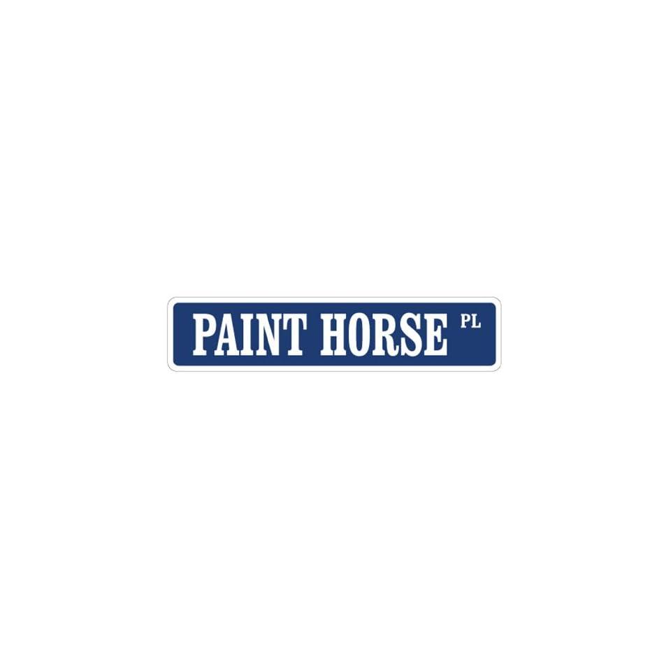 PAINT HORSE Street Sign horses farmer farm american