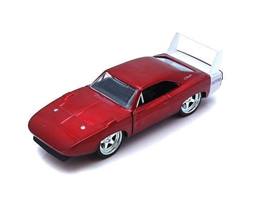 New 1:32 DISPLAY BIGTIME MUSCLE - RED 1969 DODGE CHARGER DAYTONA Diecast Model Car By Jada Toys