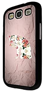 483 - Cute Cat Floral Roses Pattern Design For Samsung Galaxy S3 i9300 Fashion Trend CASE Back COVER Plastic&Thin Metal