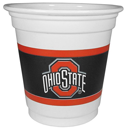 NCAA Siskiyou Sports Ohio State Buckeyes Plastic Game Day Cups, 18 Count, (3 oz) White